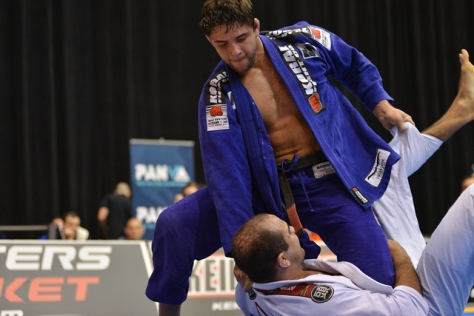 Marcus Buchecha putting 'Knee on Stomach' on Bernardo Faria.