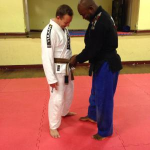 43 years old and receiving that Brown Belt from a man I admire so much - means everything...Thanks for everything, Leo..
