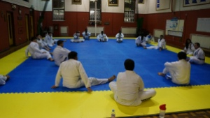 Looking down our extensive mat - great times ahead!
