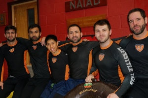 Just a few of the team sporting the Lifestyle Team rashguard