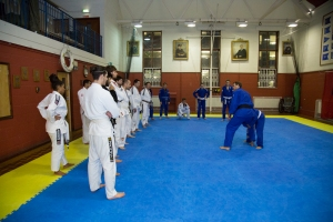 Enjoying one of our Judo for BJJ training sessions..