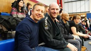 Richard Mackie with Diccon Lynes - Team Coach.