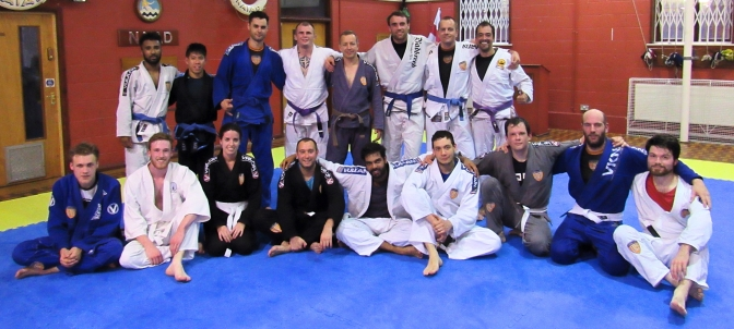 Learning the Fireman's Carry at BJJ Lifestyle Team in Kingston