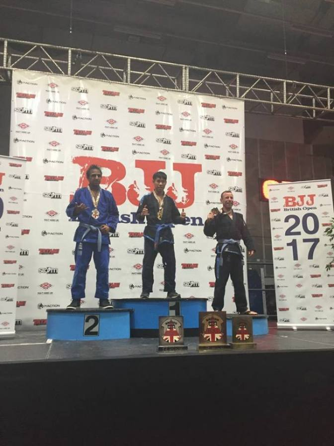 Gold at the BJJ British Open for Michael Cheung