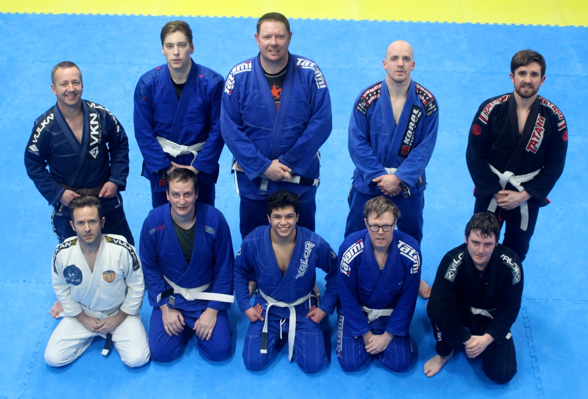 Some of the White Belts at BJJ Lifestyle Team in Kingston